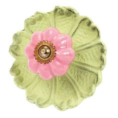 @rosenberryrooms is offering $20 OFF your purchase! Share the news and save!  Pink Posey Ceramic Knob in Green #rosenberryrooms