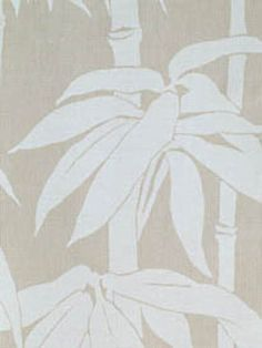 Japanese Bamboo from Florence Broadhurst via Signature Prints #fabric #cotton #neutral