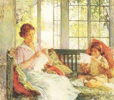 *My Wife and Daughter (Willard Metcalf, 1918)*