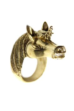 Shoptiques — Metallic Unicorn Ring