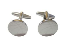 Silver Toned Etched Mozambique Flag Cufflinks