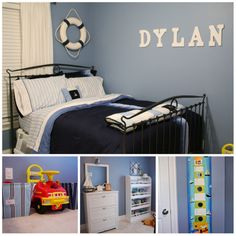 Boy's Nautical Toddler Room @Daile Johnson Vincent-Stevens