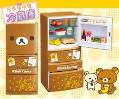 Re-Ment Rilakkuma Refrigerator Miniature Set $45.49 http://thingsfromjapan.net/re-ment-rilakkuma-refrigerator-miniature-set/