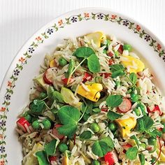 Basmati Rice with Summer Vegetable Salad Recipe - ZipList