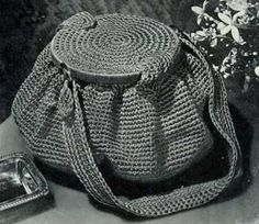 """Free pattern for """"Vintage Bag No. 2799""""...so cute!"""