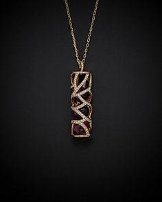 Rue La La — Luca Carati 18K Rose 22.99 ct. tw. Diamond & Amethyst 35in Necklace