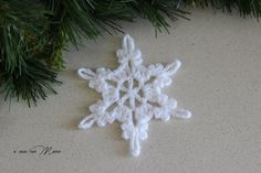 Set of 6 white snowflakes set di 6 fiocchi di neve by Acasaconmanu