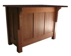 Mission Style Kitchen Island with Granite Top