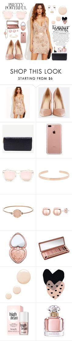 """""""Nude"""" by jeca09 ❤ liked on Polyvore featuring WithChic, Belkin, Quay, Aurélie Bidermann, Michael Kors, Too Faced Cosmetics, Urban Decay, Topshop and Guerlain"""
