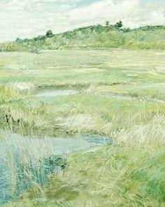 "arsantiquis: ""  The Concord Meadow (detail), Childe Hassam, c.1891 """