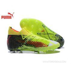 fa54d73d4 2018 FIFA World Cup Puma Future 18.1 Netfit Low hyFG 104488-01 Fizzy Yellow/Red  Blast/Puma Black Football shoes