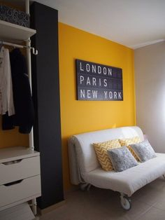 [New] The Best Home Decor Today (with Pictures) - These are the 10 best home decor today. According to home decor experts, the 10 all-time best home. Bedroom Colors, Bedroom Decor, Yellow Accent Walls, Gray Yellow, Decoration Chic, Yellow Interior, Room Color Schemes, Home Decor Furniture, New Room