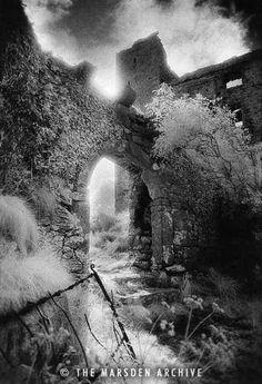 Arch, Ballynalackan Castle, County Clare, Ireland (MA-IR-707) by Simon Marsden