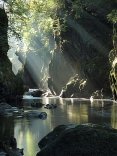 The Fairy Glen in Snowdonia National Park, Wales (by edwina bullock).