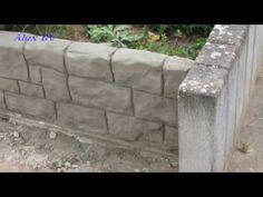 Mauer aus Beton in Steinoptik selber machen . - YouTube | texturas ...