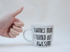 Thanks Mom I Turned Out Awesome // Funny Mother's door AvonnieStudio, $21.95