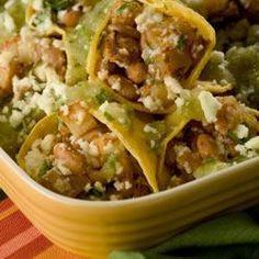 Enchiladas de papa y frijol