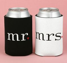 Together at Last Mr and Mrs Can Coolers for the country thunder when were finally married @David Wilder