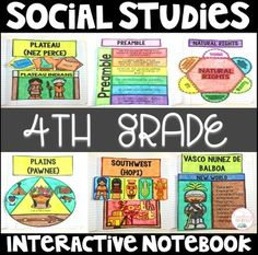 Social Studies Interactive Notebook: 35 fun and highly engaging foldables, posters, supply list, and so much more! You& never go back to your old INBs after this! Want this in a and grade BUNDLE? Social Studies Notebook, 4th Grade Social Studies, Social Studies Classroom, Teaching Social Studies, Teaching Tools, Levels Of Government, Teacher Organization, Interactive Notebooks, Classroom Activities