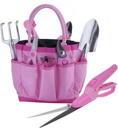 Pink Garden Tools