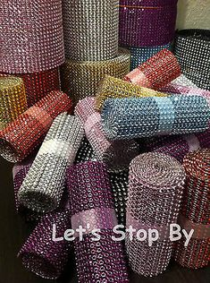 NEW Diamond Rhinestone Ribbon Bling Vase Wrap Floral Wedding Decoration Supplies in Home & Garden, Wedding Supplies, Venue Decorations Wedding Decoration Supplies, Floral Wedding Decorations, Wedding Lanterns, Diamond Decorations, Event Planning, Wedding Planning, Wedding Ideas, Wedding Tables, Wedding Venues