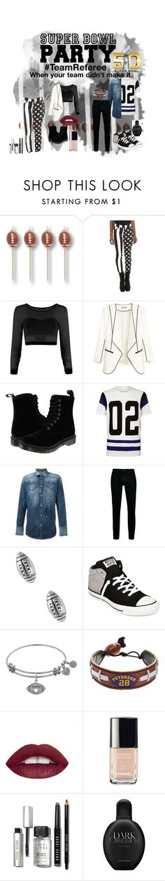 """""""#TEAMREFEREE"""" by micaj on Polyvore featuring beauty, Tripp, Dr. Martens, True Religion, Dsquared2, Topman, Jewel Exclusive, Converse, GameWear and Chanel"""