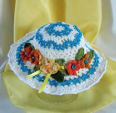 American Girl Doll Hat 18 inch Doll Hat Crochet by FocusonColor