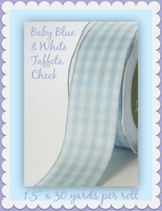 """Ribbon for your best crafting & sewing projects! This 1.5"""" x 30 yards per roll…"""