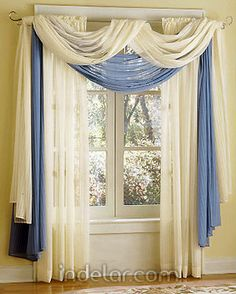 Cortina 7 Scarf Curtains Window Hanging Valance Sheer