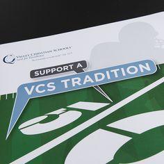 Valley Christian Schools Fundraising Campaign – Football Field Artificial Turf Resurfacing Brochure. #VCS #ValleyChristianSchools #footballturffundraiser