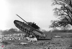 """Experienced English A43 infantry tank """"Black Prince"""" to the test,1944."""
