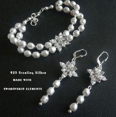 Brautschmuck armband perlen klassischer Brautschmuck Armband mit edlen Perlen | herrlicher ...
