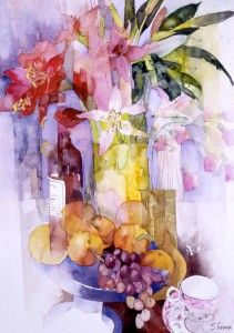 Still Life with Grapes & Oranges   Shirley Trevena