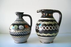 Vintage Marked Mexican Pottery Pitchers by 4EnvisioningVintage, $47.00