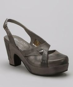 Take a look at this Gray Slingback by Antelope on #zulily today!