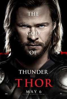Thor movie poster with Chris Hemsworth, Anthony Hopkins, and Natalie Portman.