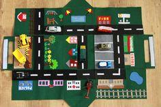 Auto Spielteppich für kleine Autofans