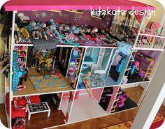 german monster high doll house crazy dreamz bathroom dollhouse
