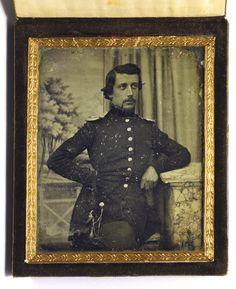 Soldier. Daguerreotype by Gregor Renard. Kiel, c.1845.