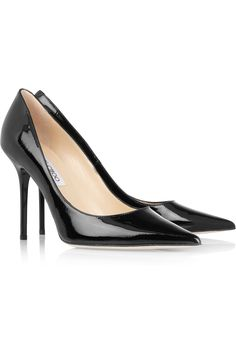 Latest closet edit - Jimmy Choo | Abel pointed patent-leather pumps | NET-A-PORTER.COM