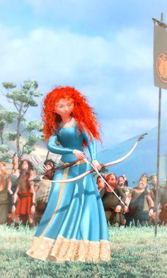 Merida shoot by her own hand Disney Pixar, Walt Disney, Disney Films, Disney Fan Art, Disney Magic, Princesa Merida Disney, Princess Merida, Angel Princess, Disney Princess Dresses