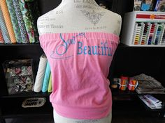 DIY altered t-shirt tutorial. From a t-shirt to a tube top.