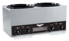 Vollrath 72028 Cayenne Twin 7 Qt. Countertop Warmer with Independent Timers 120V