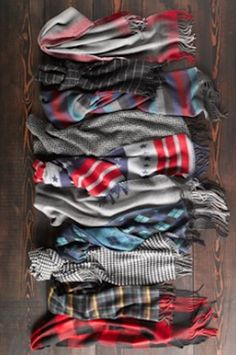 so many colorful scarves http://rstyle.me/n/utypvr9te