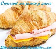 Croissant con jamon y queso.