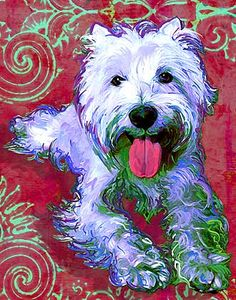 Westie Art - I want one of these done with karlie!