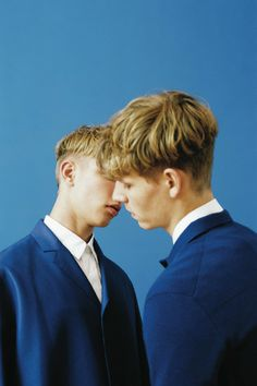The Moment Before The Kiss. Valters Medenis & Simon Fitskie | Photographed by Bruna Kazinoti for Dust Magazine #5 | Dior Homme Spring 2014
