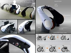 NEWS (New Electric Wheelchairs) by designer Ju Hyun Lee.  This is the equivalent of a Copenhagen Wheel for wheelchairs!