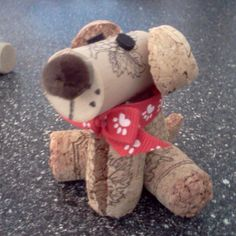 Hand crafted cork animals
