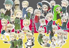 Prussia and Germany chibis (Hetalia)